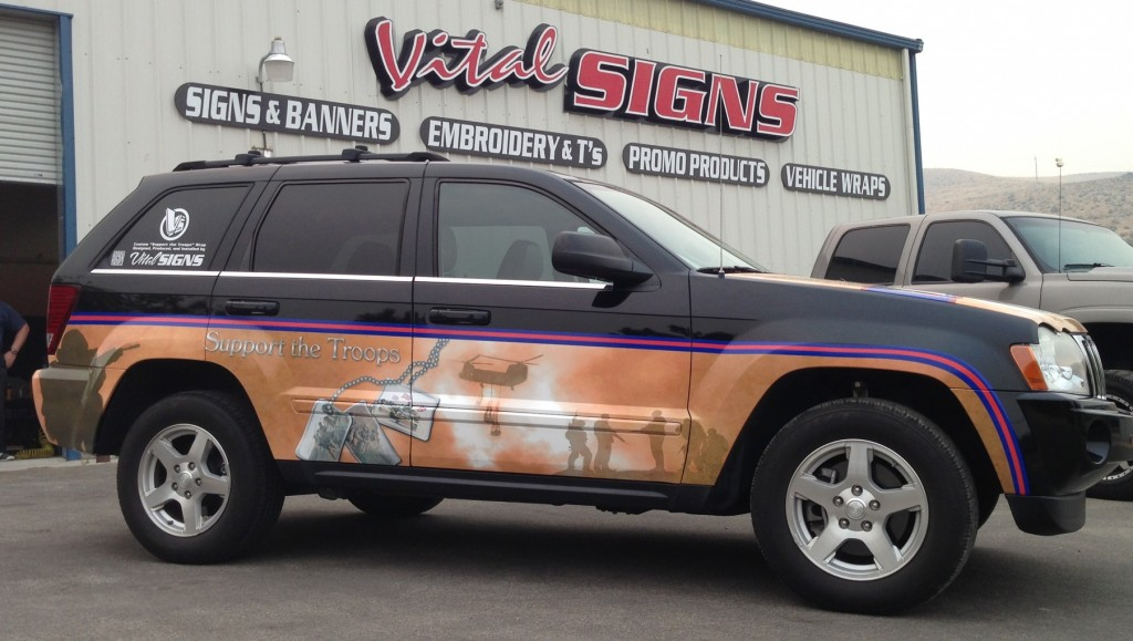 Military Jeep Half Wrap Vital Signs Signs Banners