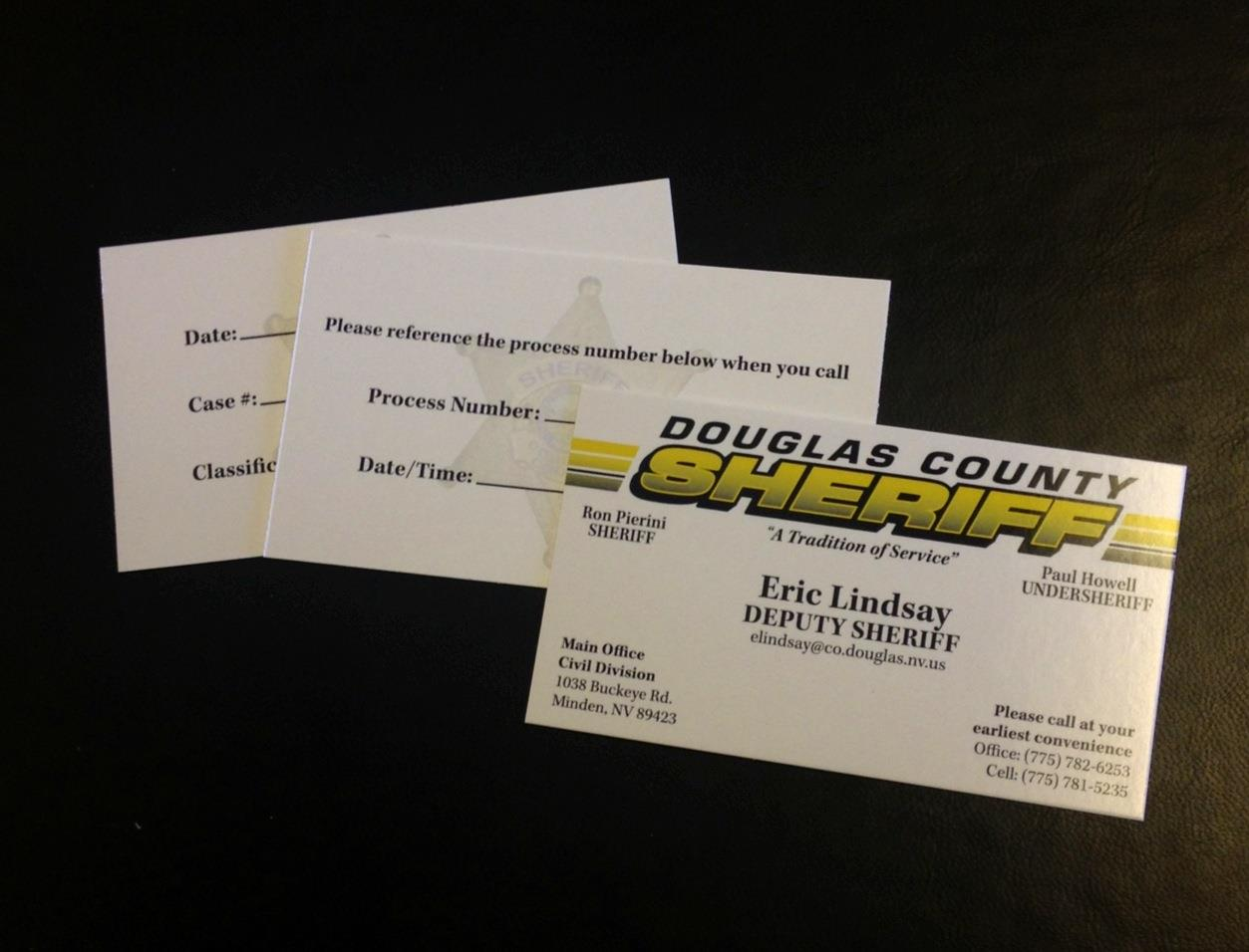DCSO Business Cards