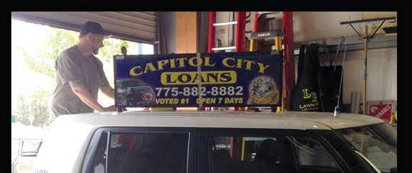 CAPITOL CITY LOANS - CAB TOPPER - VEHICLE GRAPHICS